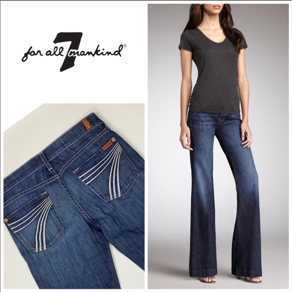 7 For All Mankind Denim - 7 For All Mankind Dojo Blue Jeans size 27